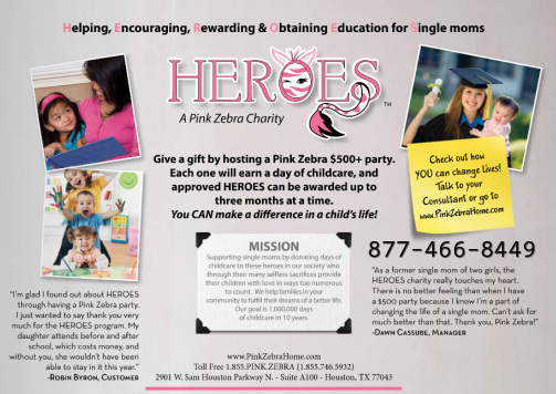 Pink Zebra Gives Back to Single Moms