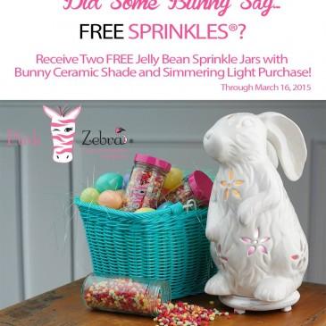 Free Pink Zebra Sprinkles!