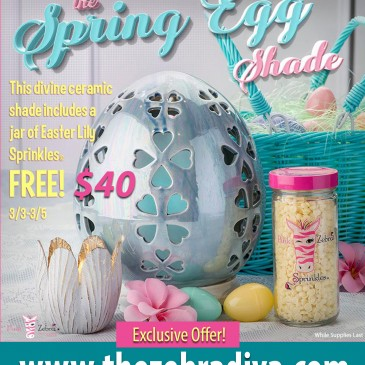 Pink Zebra Spring Egg Shade with FREE Sprinkles!